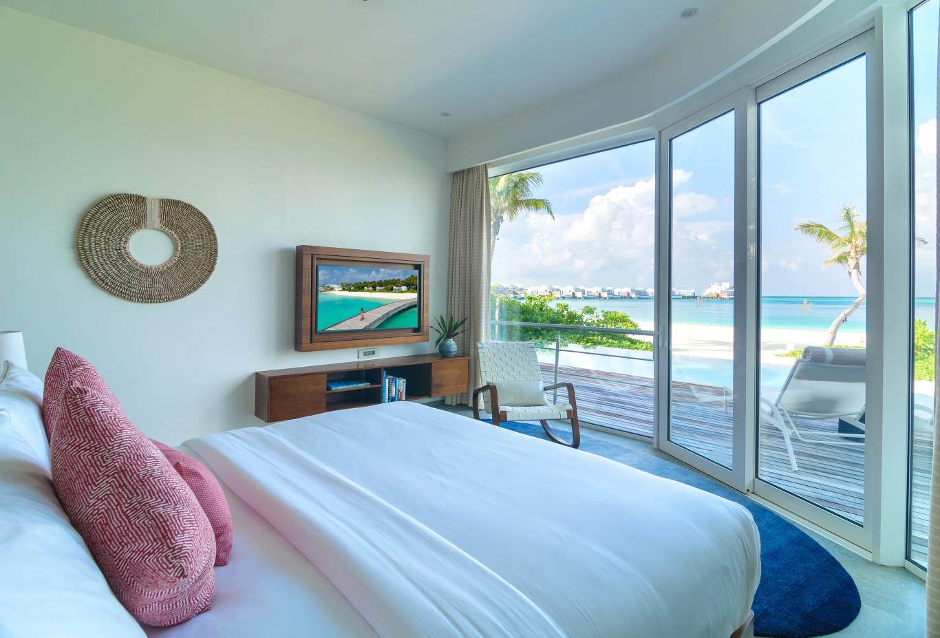 Beach Villa bedroom and windows