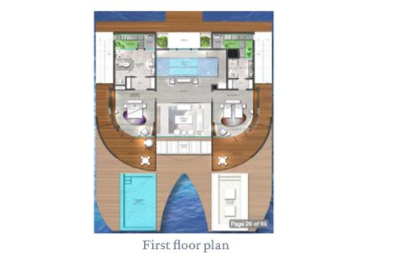 Floorplan Beach Retreat and Overwater Retreat upper floor