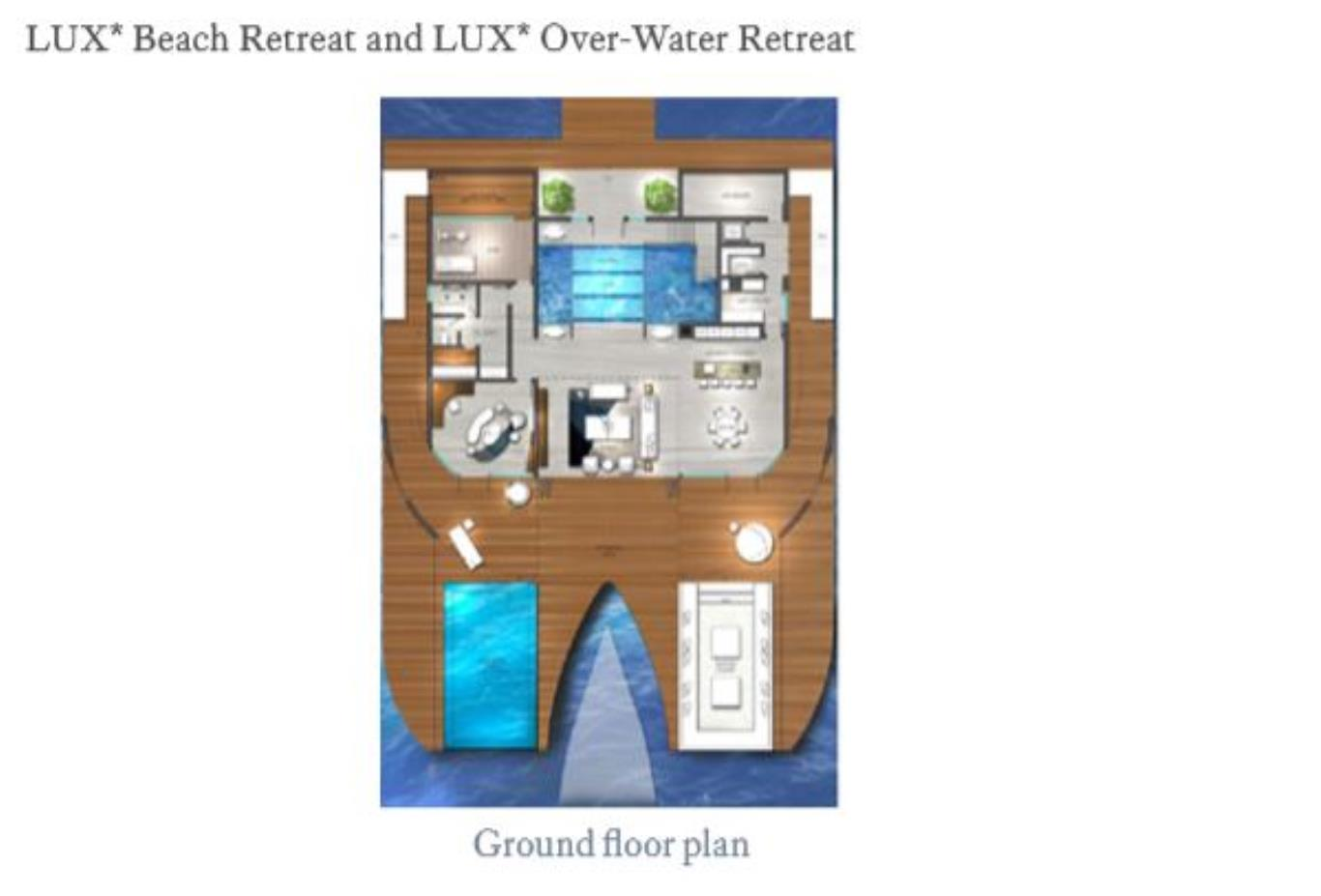 Floorplan Beach Retreat and Overwater Retreat