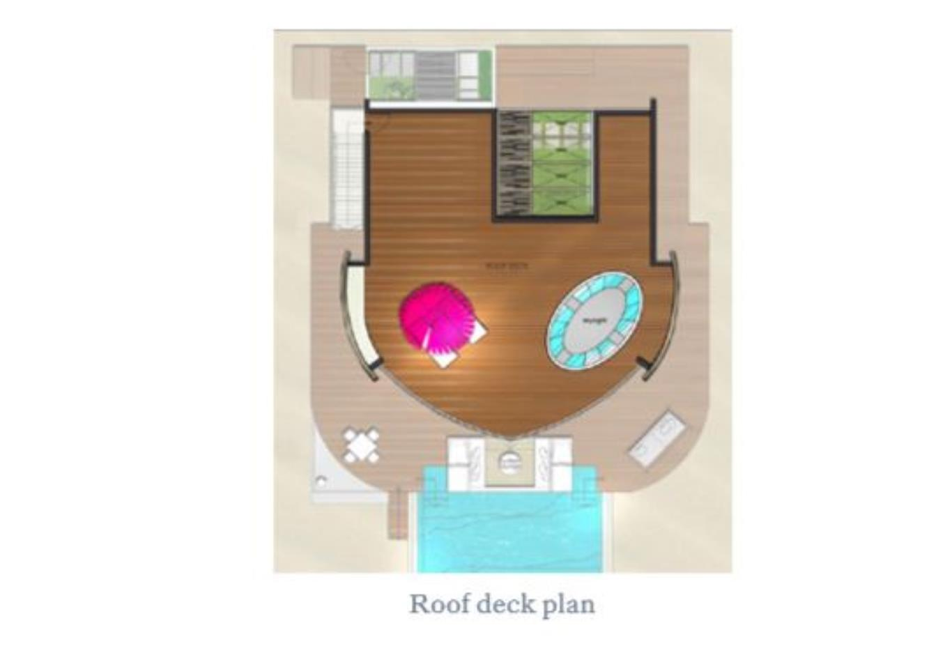 Floorplan Beach and Water Villa Deck