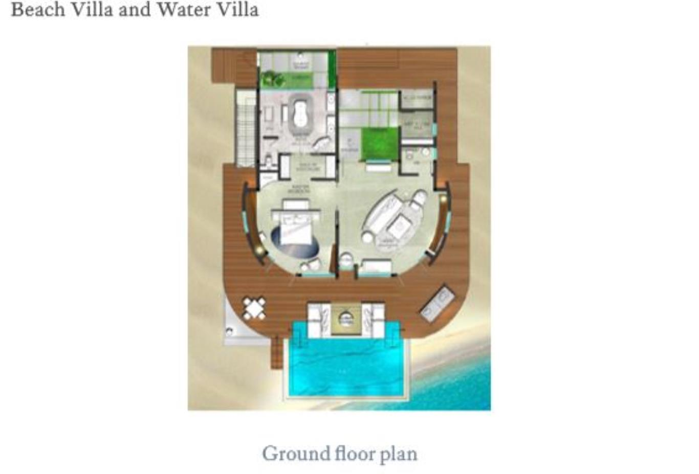 Floorplan Beach and Water Villa