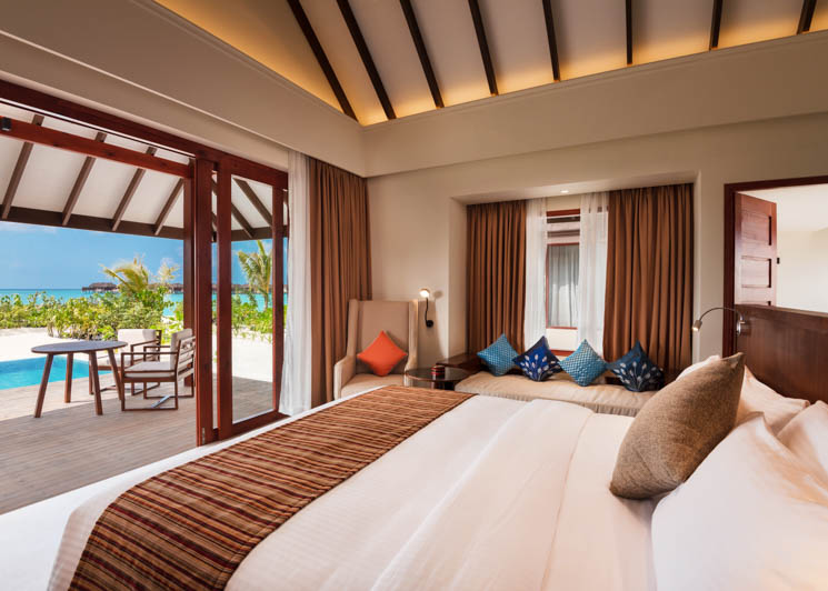Beach Villa with Pool   Bedroom View