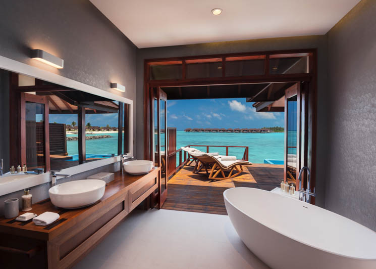 Water Villa with Pool   Bathroom View