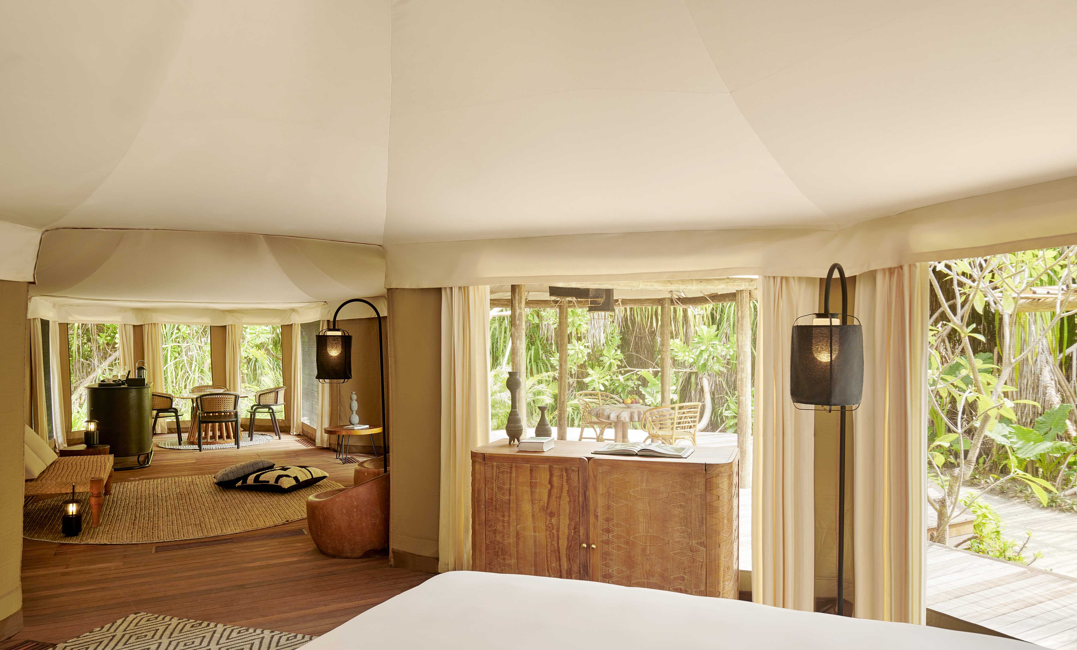 Luxury Tented Jungle Villa Living area