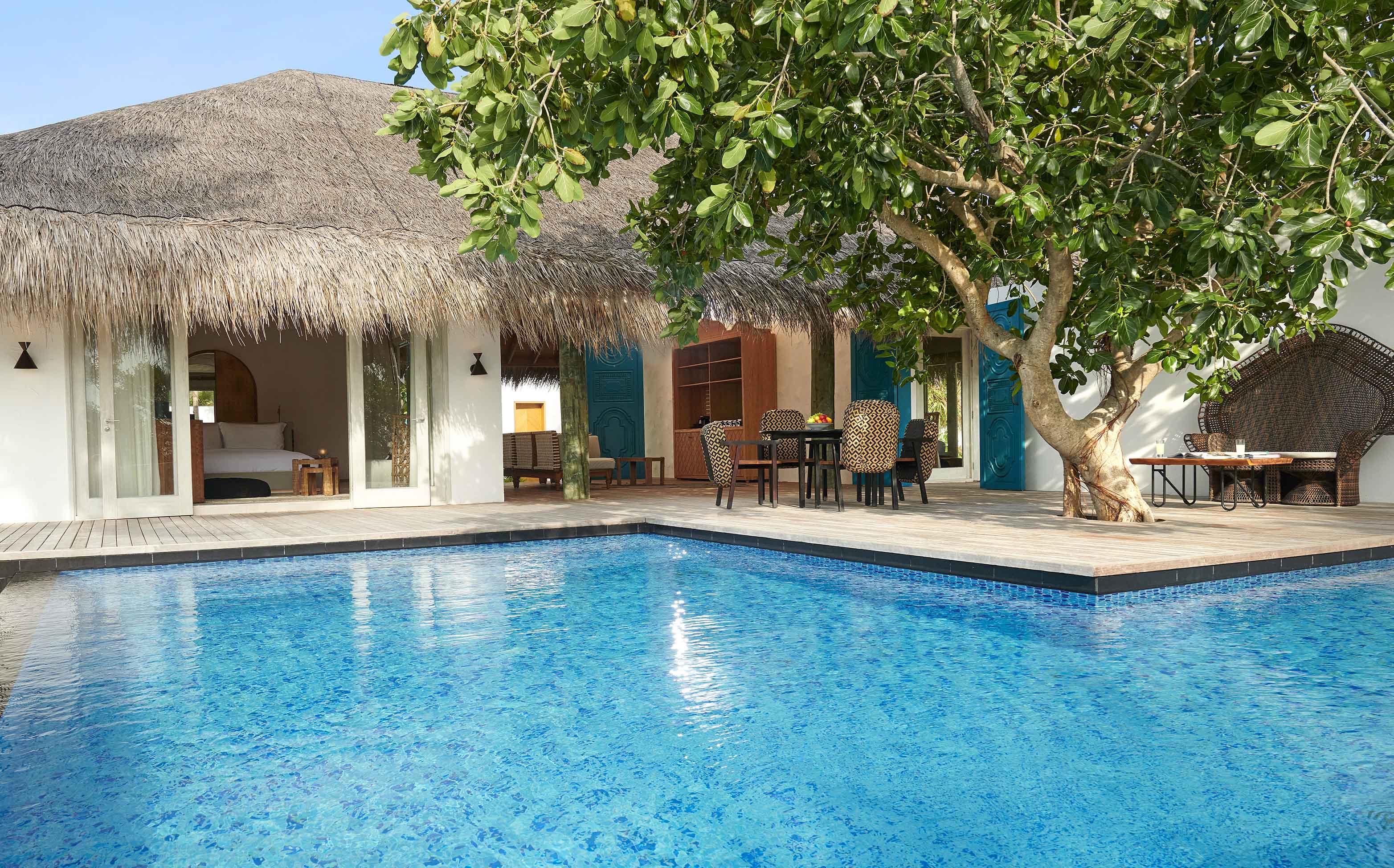Two Bedroom Beach Sunset Villa deck
