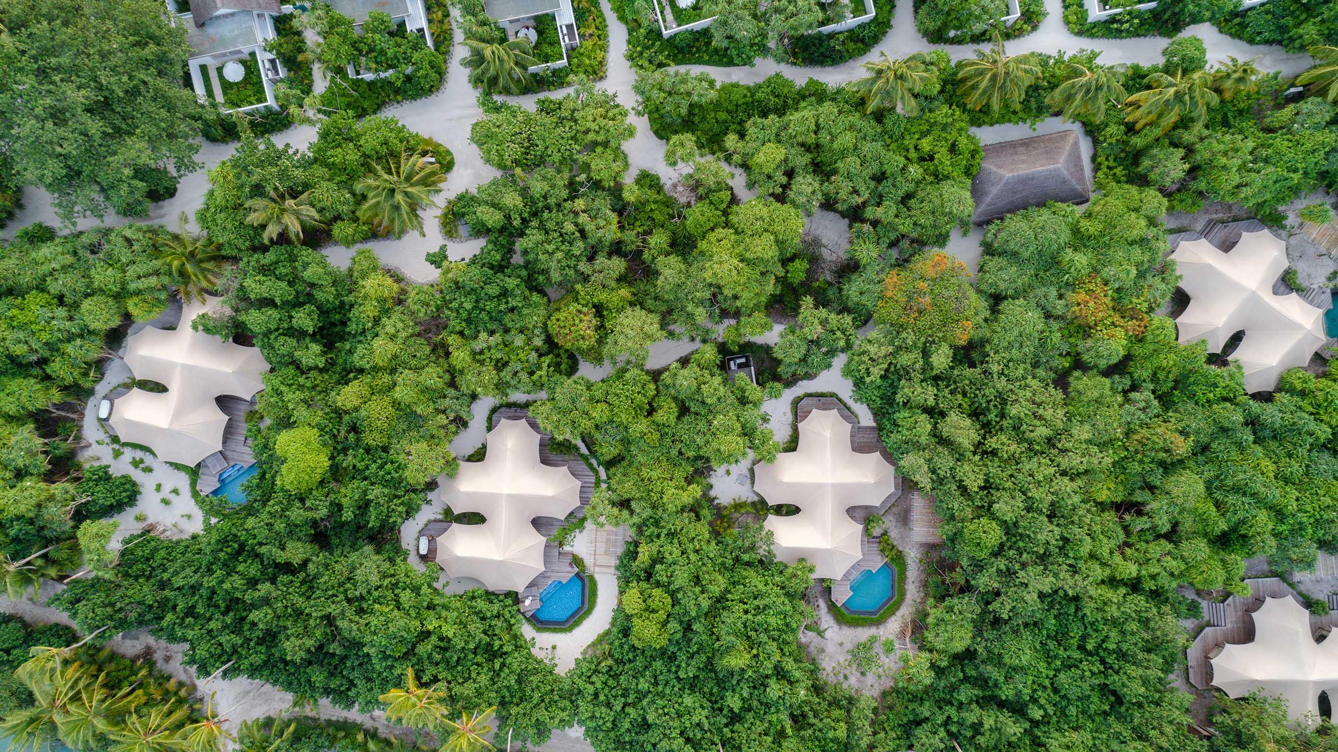 Luxury Tented Jungle Villa aerial view
