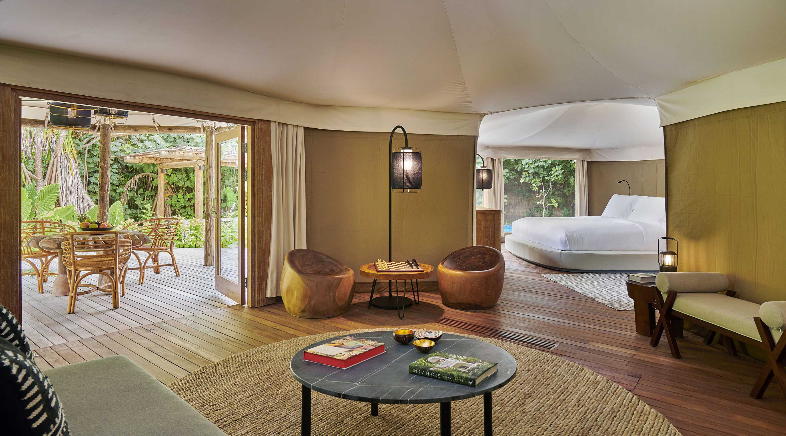 Luxury Tented Jungle Villa interior
