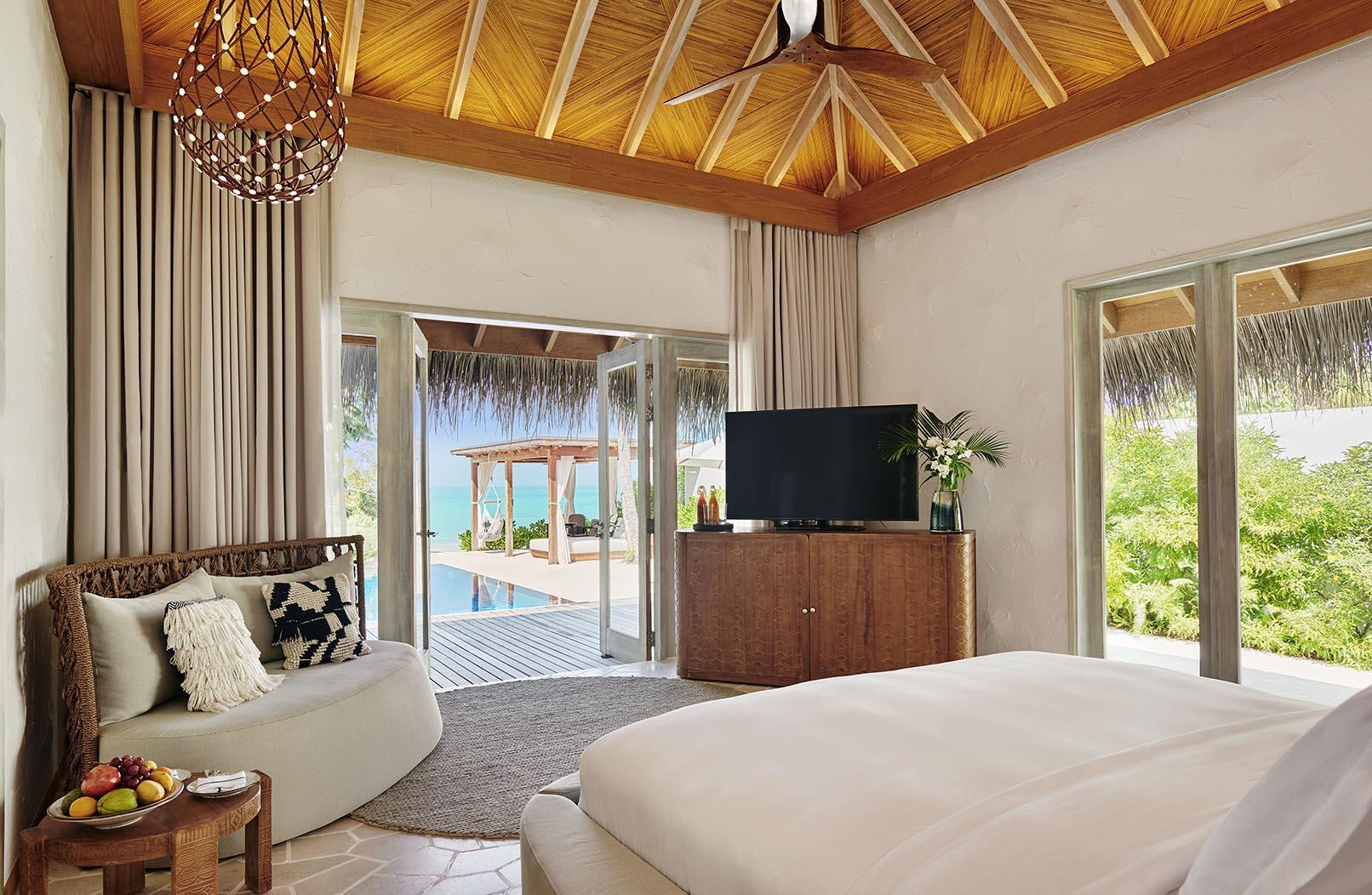 Two Bedroom Water Sunset Villa  bedroom