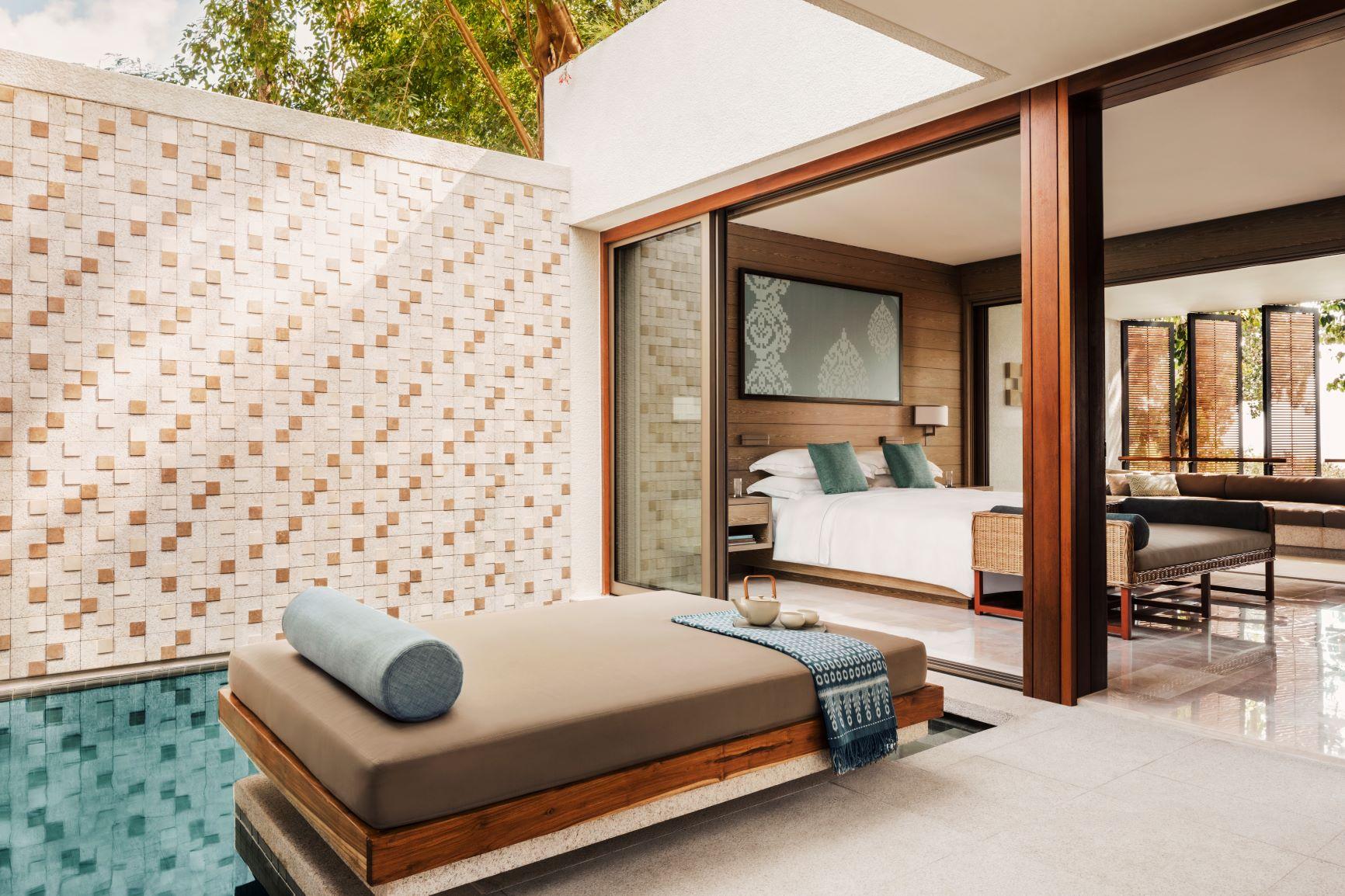 Ocean Suite bedroom and plunge pool