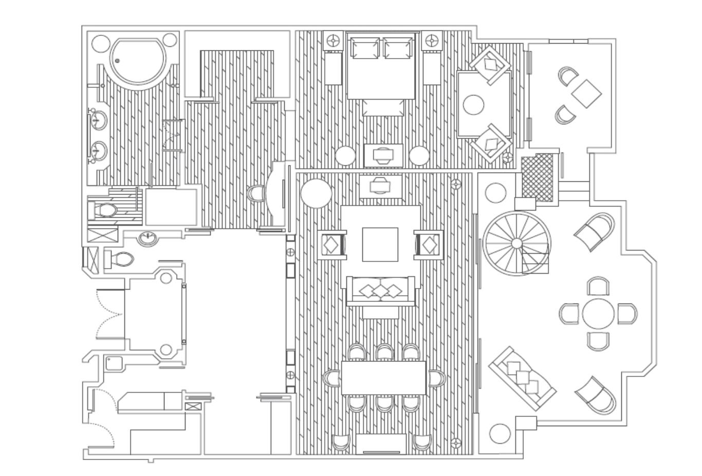 Floorplan The Lux Suite