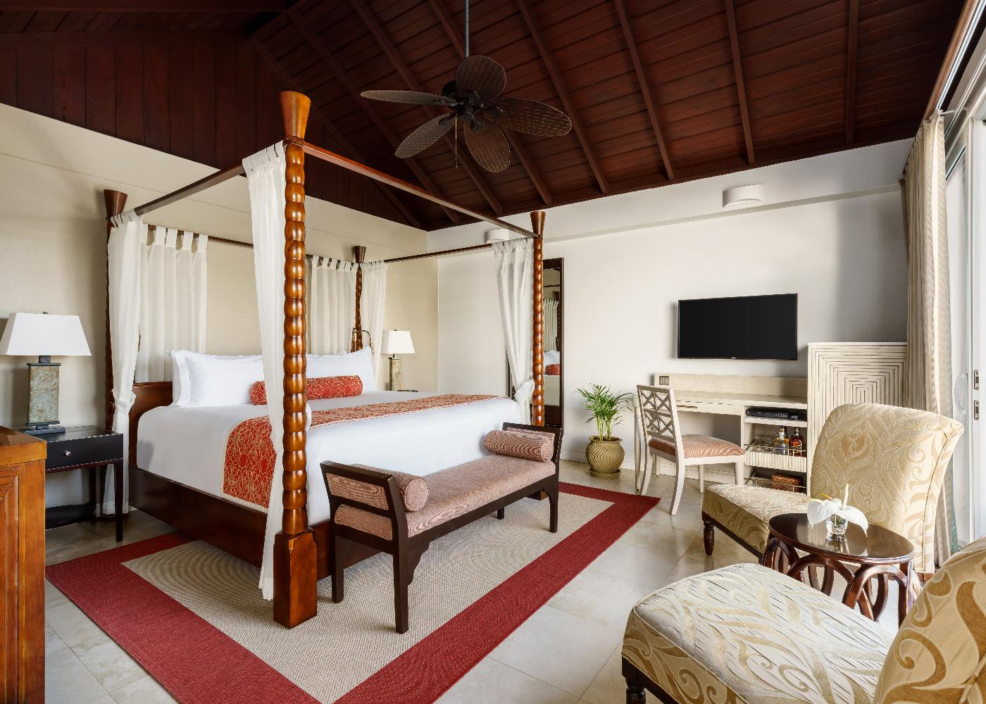 Luxury Almond Pool Suite Bedroom