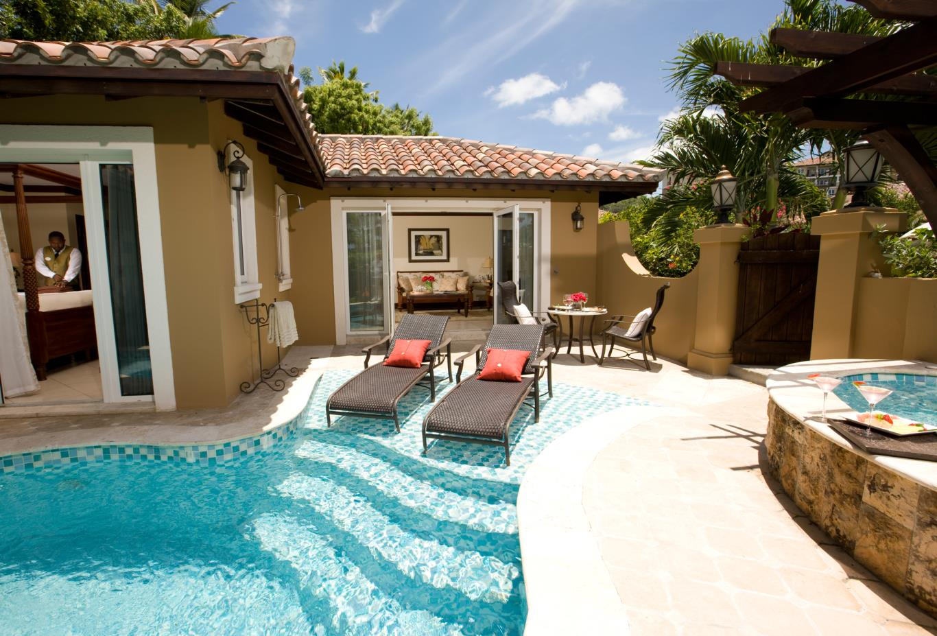 Mediterranean One Bedroom Butler Villa Suite w Private Pool