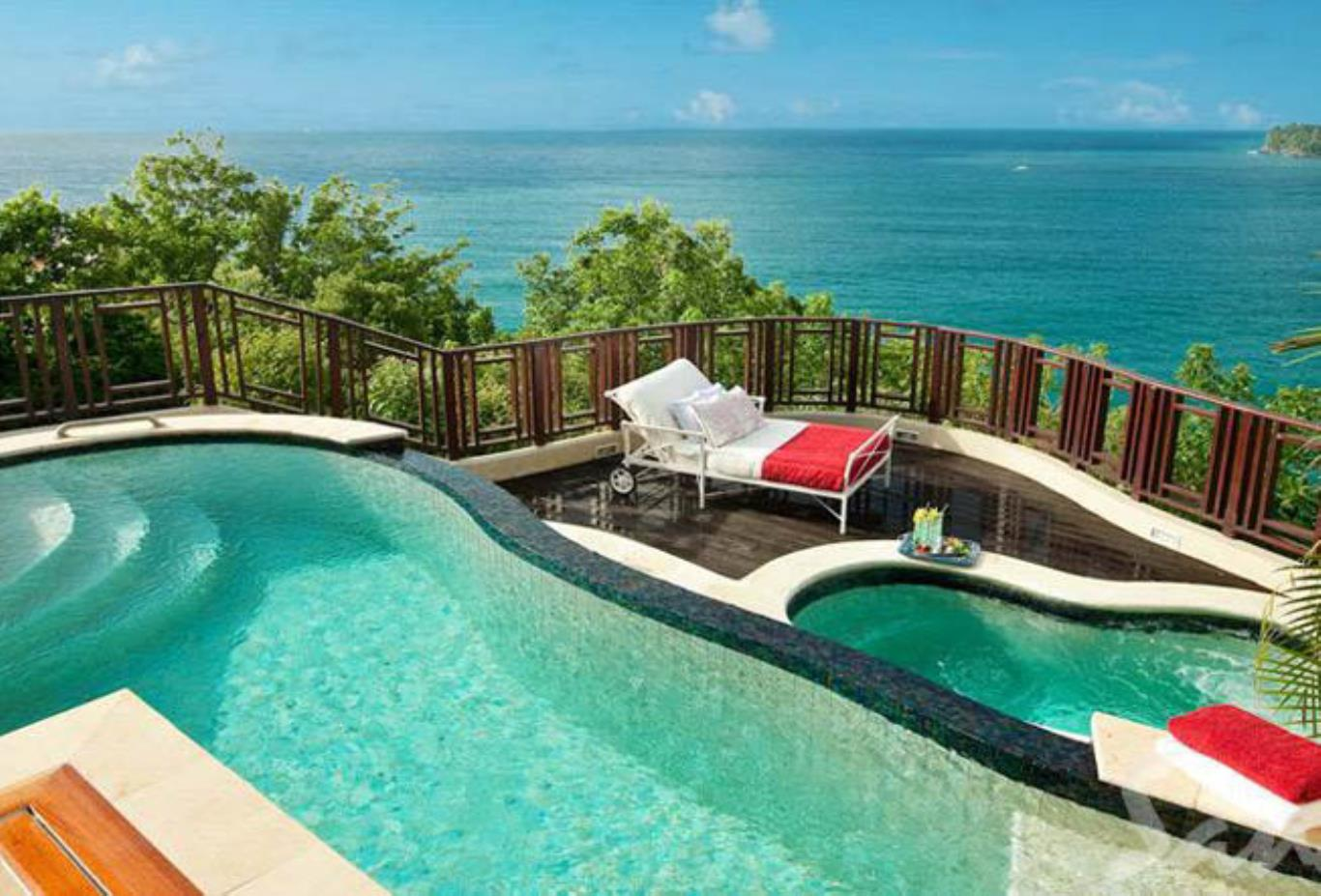 Sunset Oceanview Bluff Millionaire Butler Villas Suite with Private Pool Sanctuary - SV