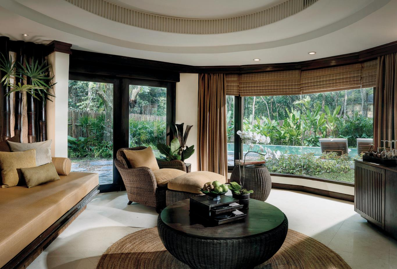 Pool Pavilion Living Room