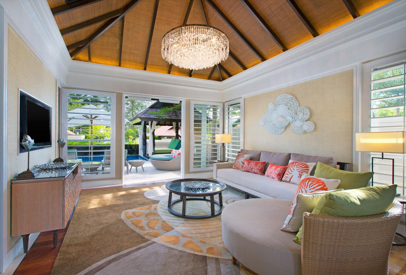 One Bedroom Villa living area