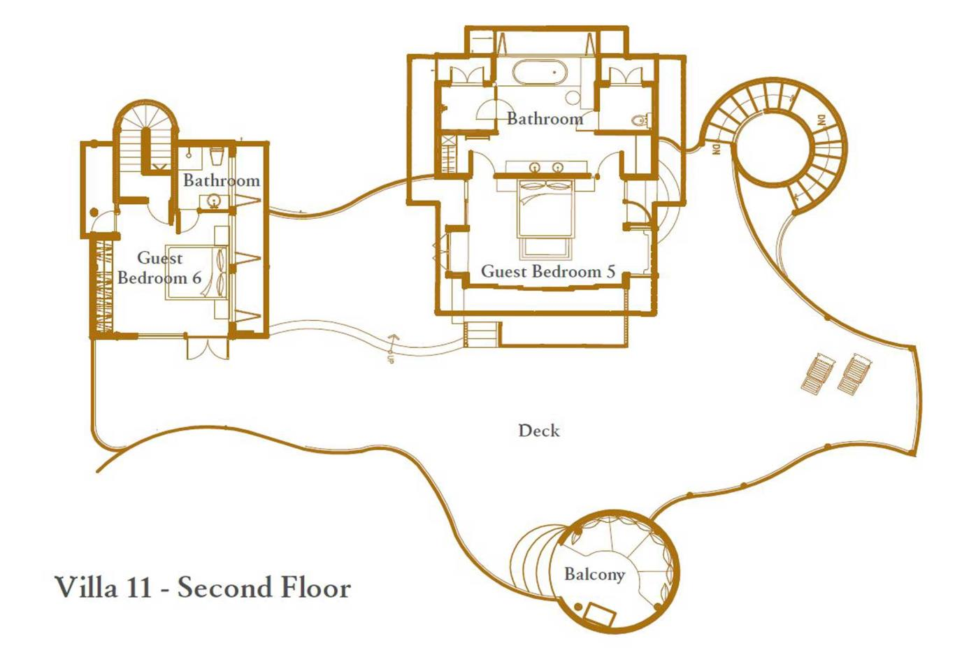 Villa 11 Second Floor Floorplan