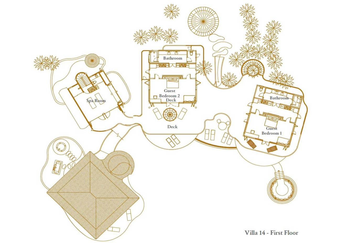 Villa 14 First Floor Floorplan