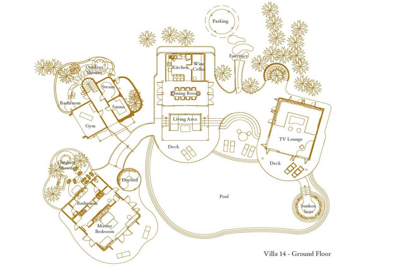 Villa 14 Ground Floor Floorplan