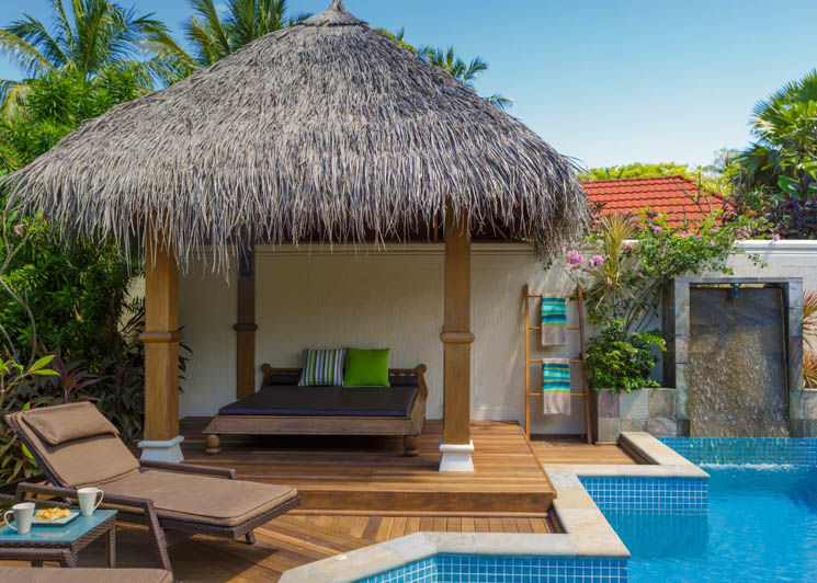 Deluxe Pool Villa terrace and day bed