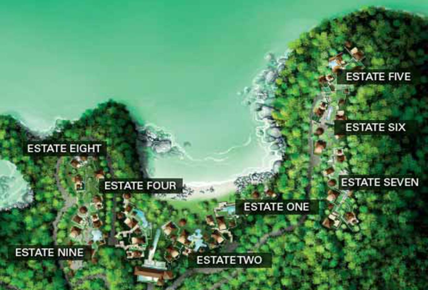 Pangkor Laut Estates Map