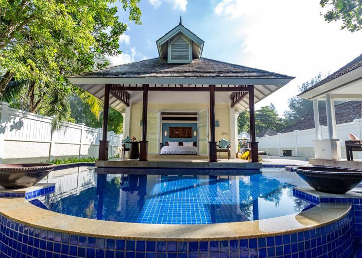 Two bed beachfront villa