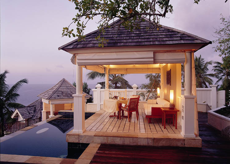 Intendance Bay villa pavilion