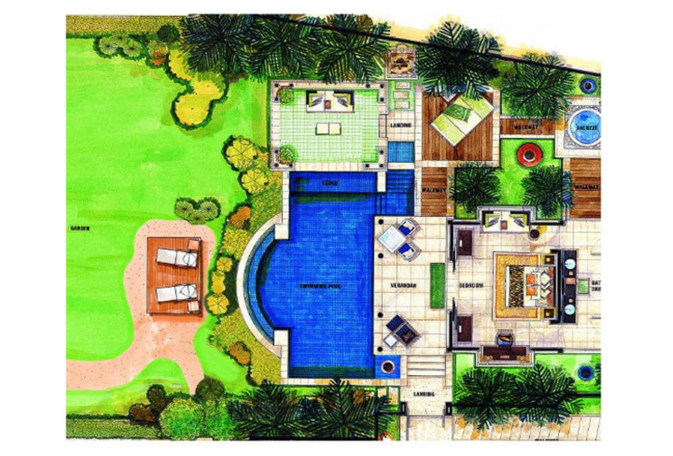 Floorplan - Beachfront Spa Pool Villa
