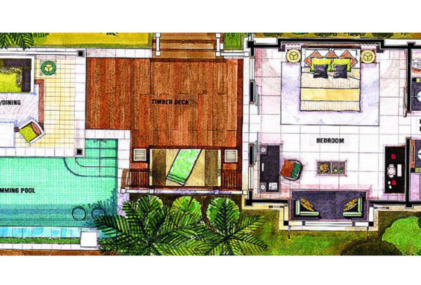 Floorplan - Ocean View Pool Villa
