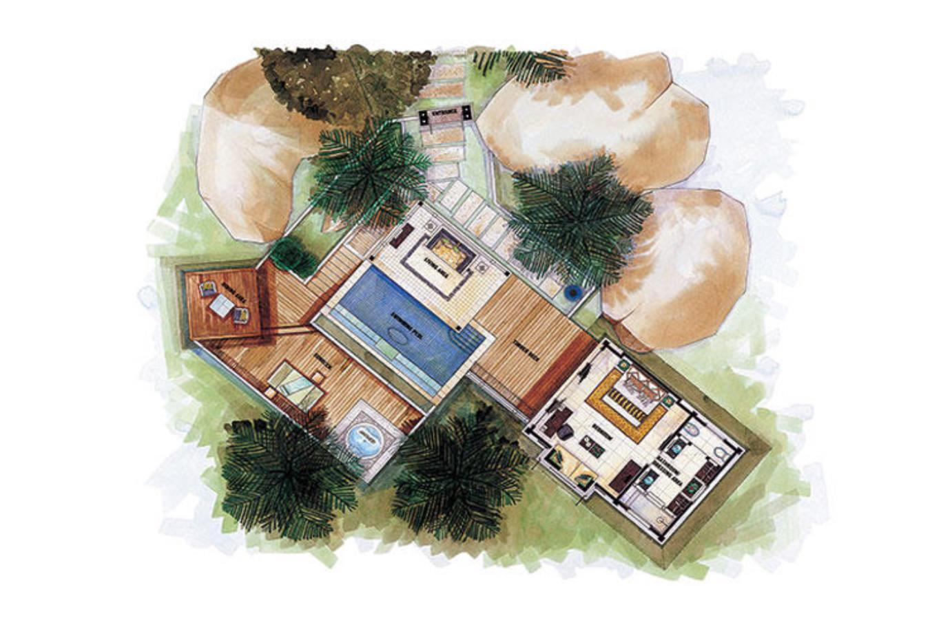 Floorplan - Sanctuary Ocean View Pool Villa