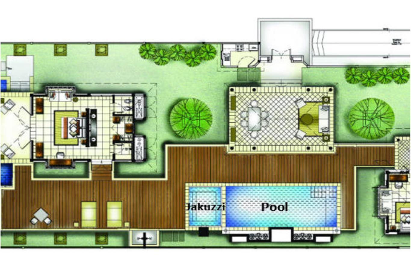 Floorplan - Two Bedroom Double Pool Villa