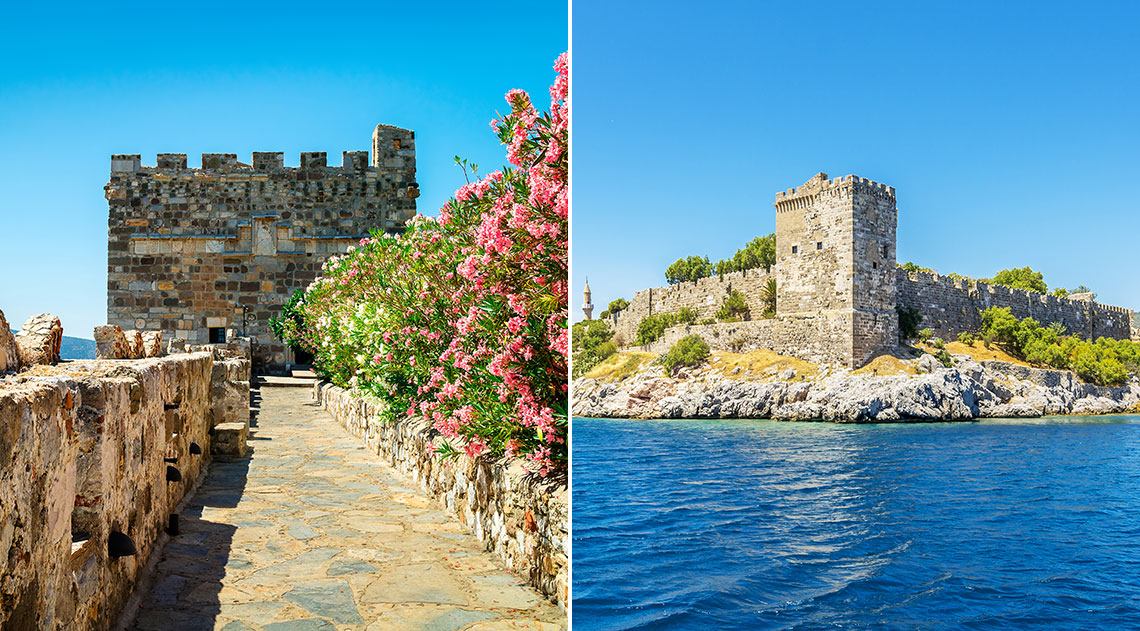 Bodrum Castle walls and exterior view