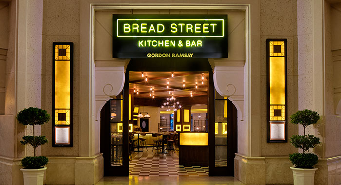 Bread Street Kitchen entrance and interior
