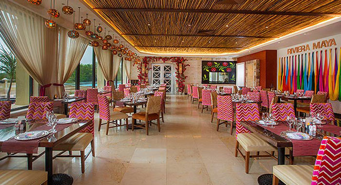 Large colourful restaurant