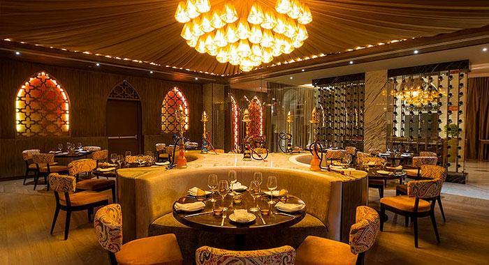 Large dark Gothic style restaurant