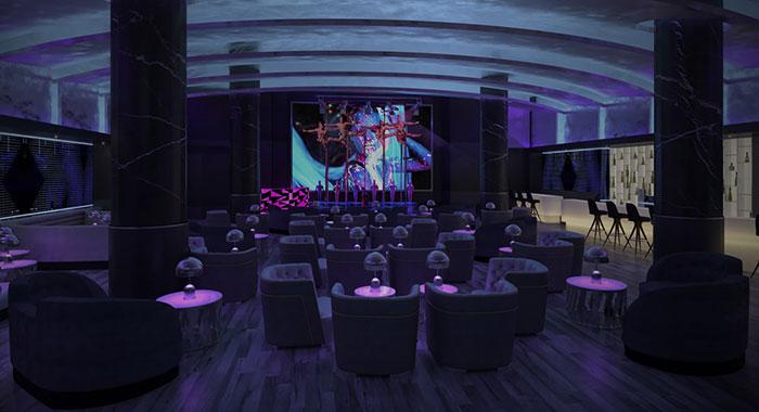 Evening entertainment area