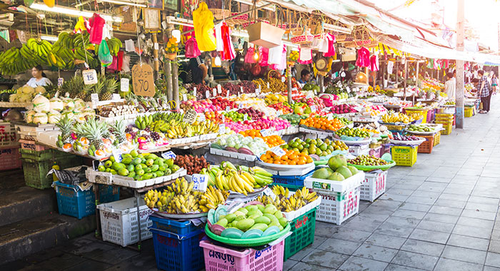 Large fruit stall