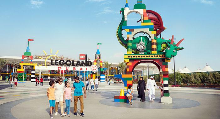 Entrance to Legoland Dubai
