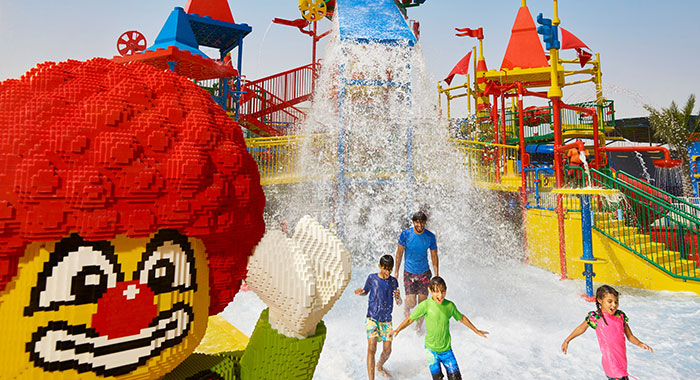 Playground with water feature