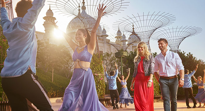 Bollywood dancers in Dubai Parks