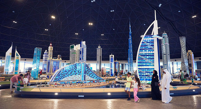 Miniland skyline with Dubai's main landmarks