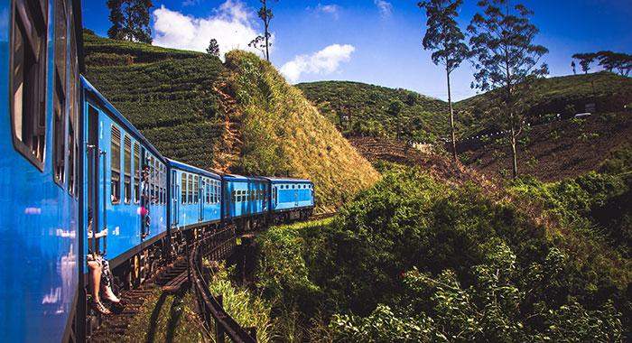Kandy to Ella  blue train