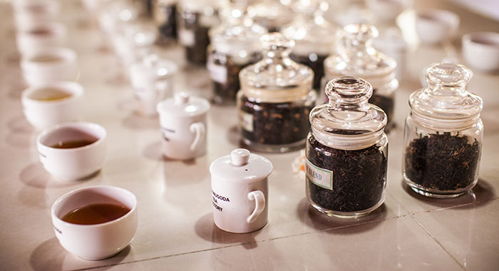 Different types of tea on a table