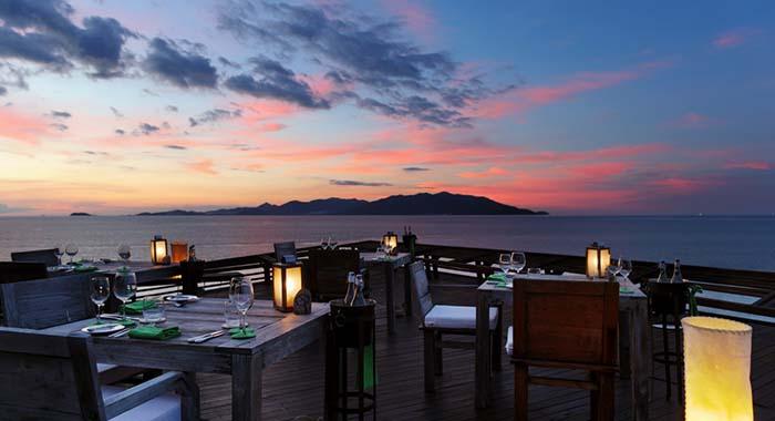 Restaurant with sunset