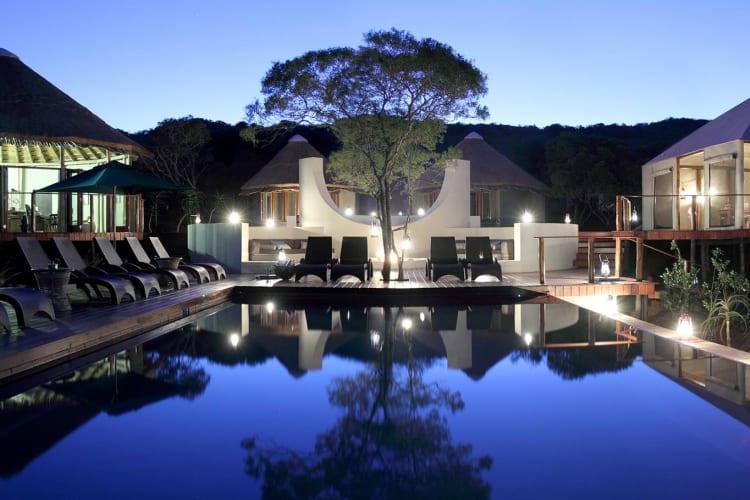 Luxury Tents Pool Area
