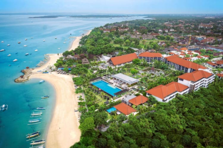 Aerial view of Fairmont Sanur Beach Bali