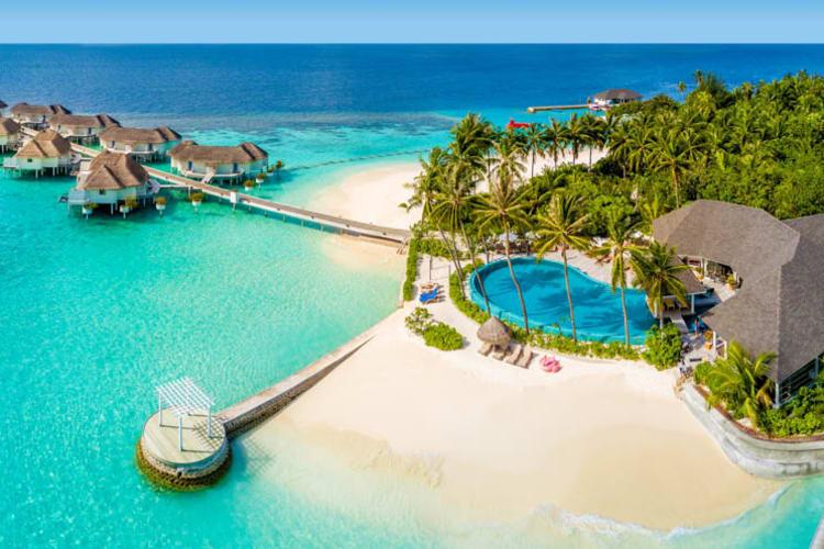 Club pool and beach