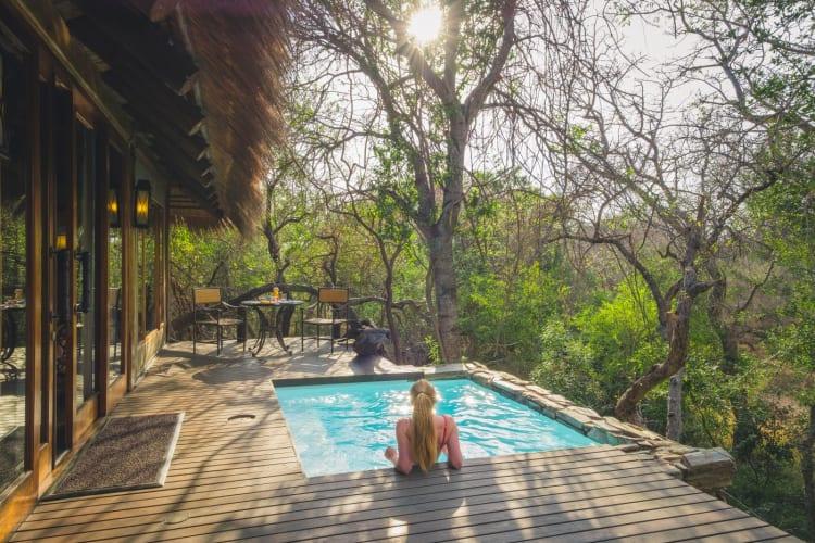 Jabulani suites   girl in plunge pool