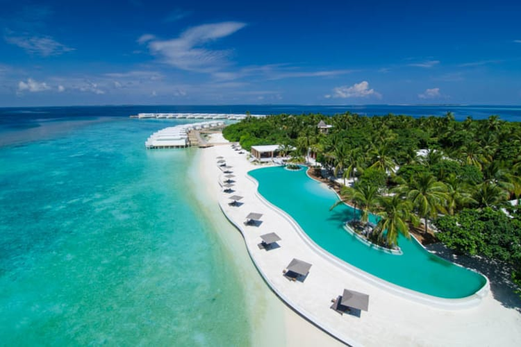 Amilla Fushi pool and beach