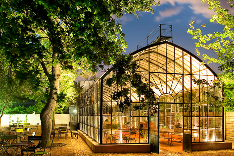Babylonstoren Greenhouse At Night
