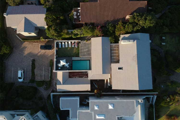 The Robberg Beach Lodge Aerial View robberg house pool